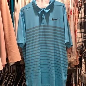 Nike golf shirt with chest stripes